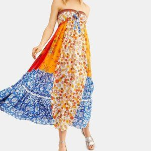 NEW FREE PEOPLE GOLDEN DREAMS MAXI DRESS, LARGE